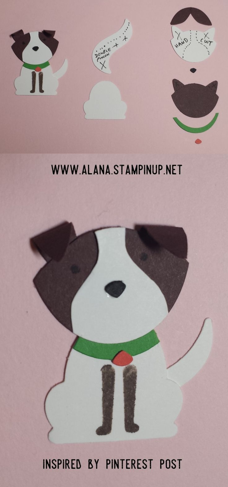 Dog No.1 Punch Art. Using Foxy Friends Stamp Set and Foxy Builder Punch from Stampin' Up!