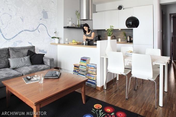 Mala kuchnia z salonem