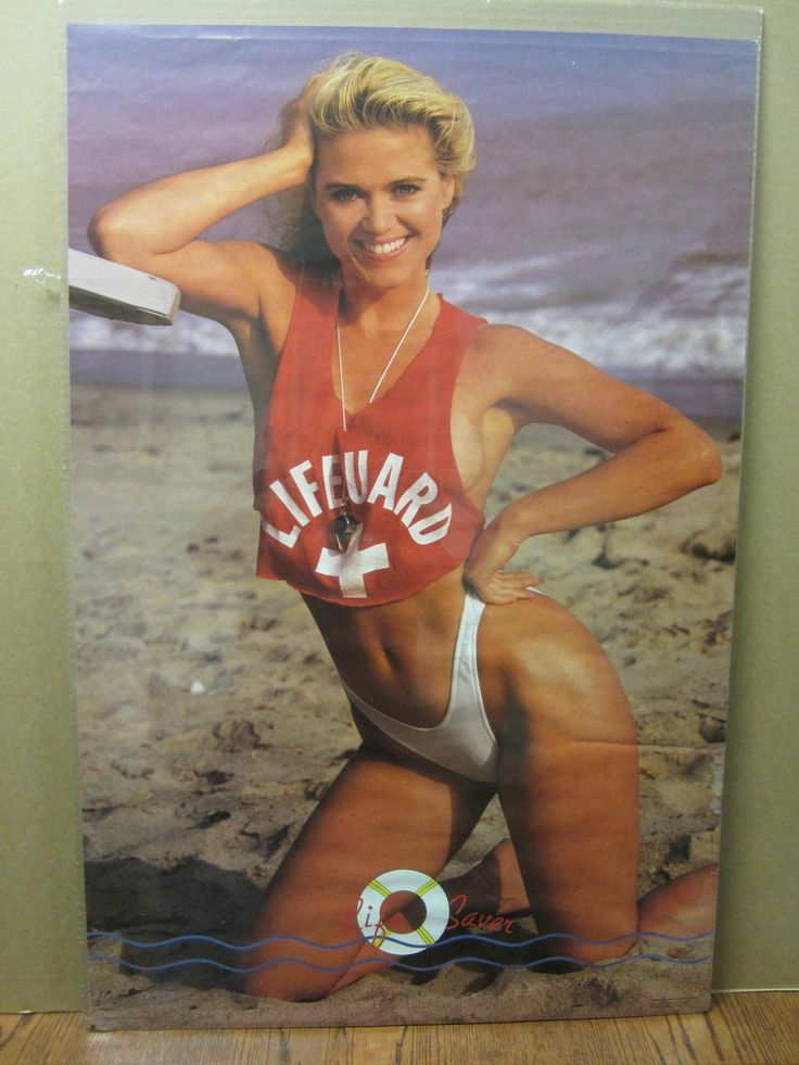 Vintage Life Saver Lifeguard 1987 Poster Car Garage Man ...