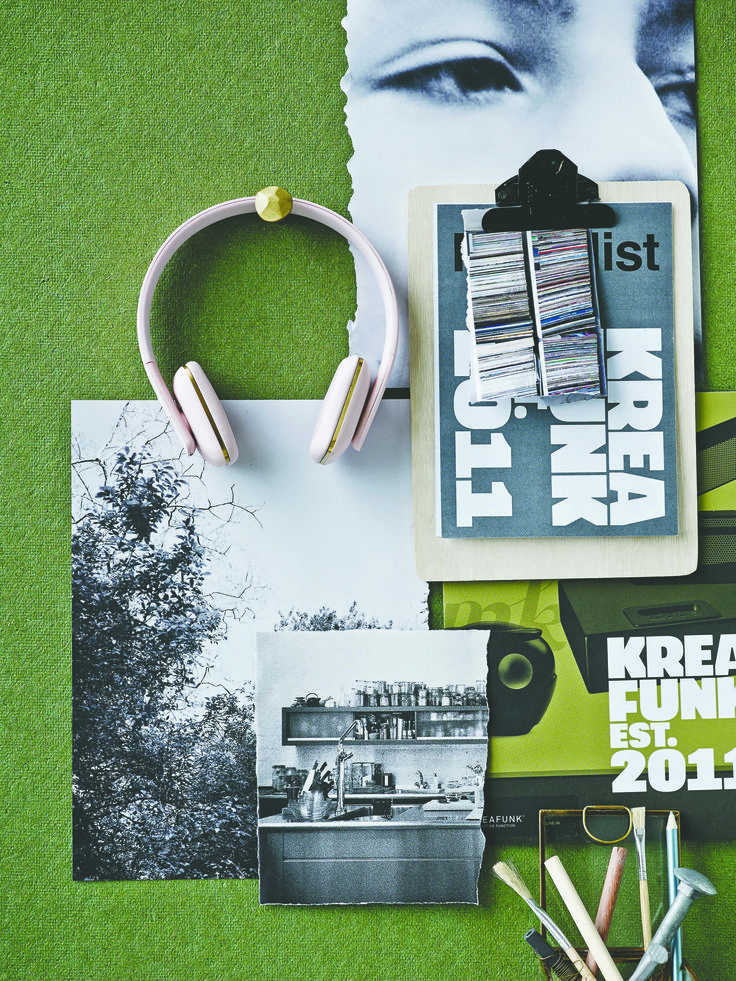 aHEAD in dusty pink from KREAFUNK are wireless headphones for the person that wants to listen to music in style