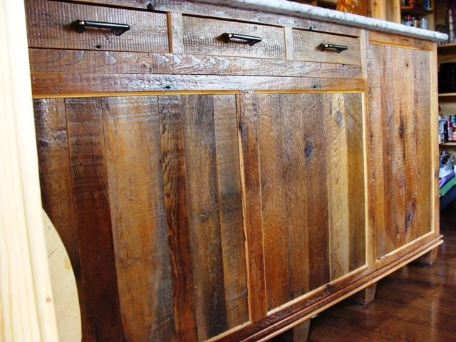 Reclaimed Barn Wood Kitchen Cabinets