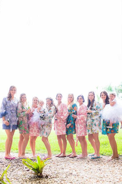 Cute floral robes for the bridesmaids before putting on the dresses! {Susan Shek Photography}