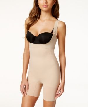 Spanx Midnight Firm Control Open-Bust Bodysuit SS5615 - Tan/Beige L
