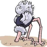 de kop in het zand steken