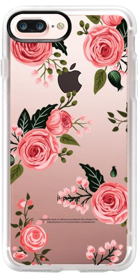 Casetify Protective iPhone 7 Plus Case and iPhone 7 Cases. Other Spring iPhone Covers - Pink Floral Flowers and Roses Chic Feminine by Frankie & Claude | Casetify
