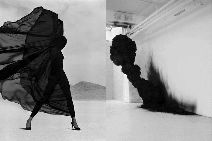 Dresse inspired by black smoke