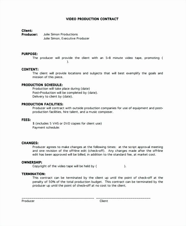 Video Production Contract Template Beautiful Producer Contract Template Music Producer Contract Contract Template Templates Budget Template Free