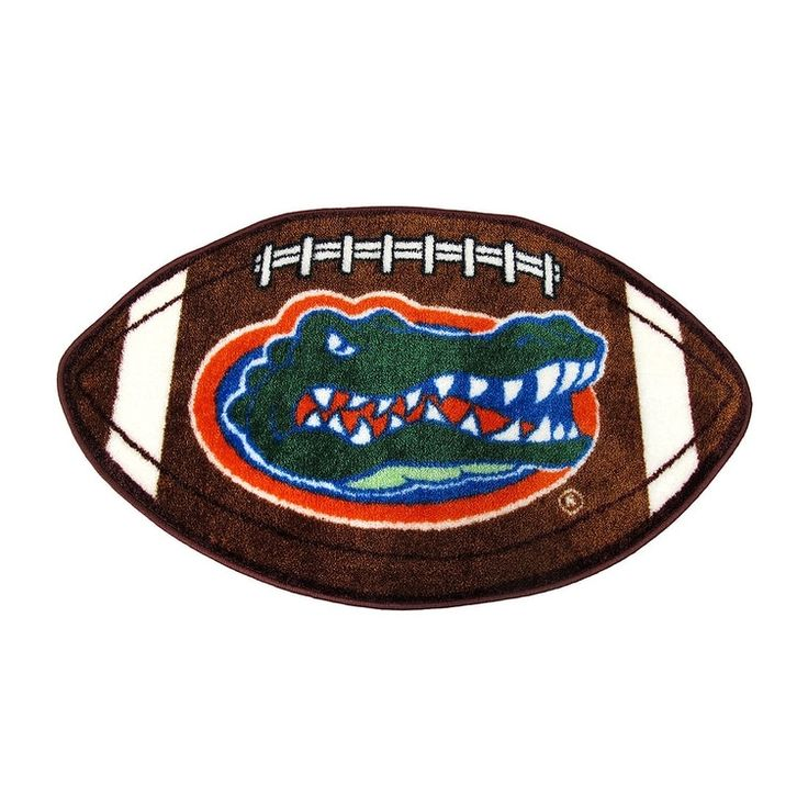 Florida Gators Football Shaped Throw Rug - Brown (Nylon)