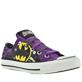 Converse - All Star - Ox III Catwoman DC - Baskets montantes pour femme - Noir et violet chez Schuh