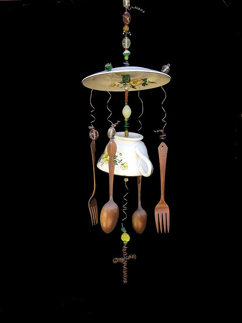 nice one...Teas Chimes, Crafts Ideas, Yellow Floral, Diy Gift, Chimes Yellow, Teas Cups Wind Chimes, Teas Windchimes, Teas Cups Windchimes, Photos Shared