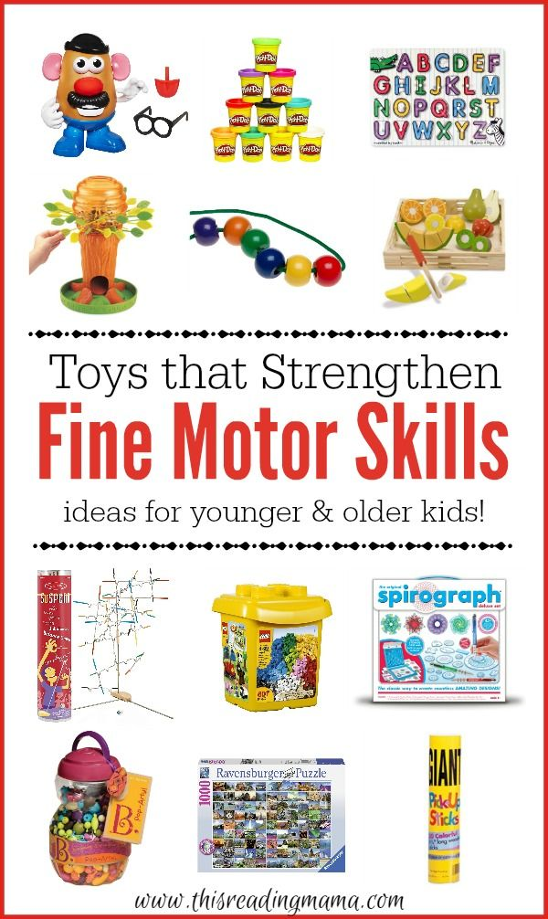 Toys that Strengthen Fine Motor Skills - ideas for younger and older kids - This Reading Mama