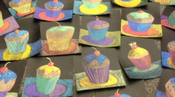 Cupcake Art Lesson : 192 best images about art lessons on Pinterest