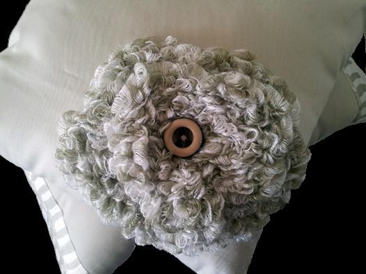 Latte Collection - La'Quin Design  Handmade Flower Motif Scatter Cushion
