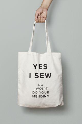 Yes I Sew tote bag