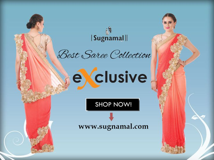 This Wedding Season save cash shop online. Sugnamal Presents Latest sarees #wedding_Special for girls and women's shop now.  Visit @http://www.sugnamal.com/category/?cat=Shop+Women&&subcat=Sarees #wedding_Sarees #party_wear #new_arrivals #saree #desi #indian #shop_online #happy_customers #ethnic #couture #suit #saree #Lehenga  watsapp: 8418888893