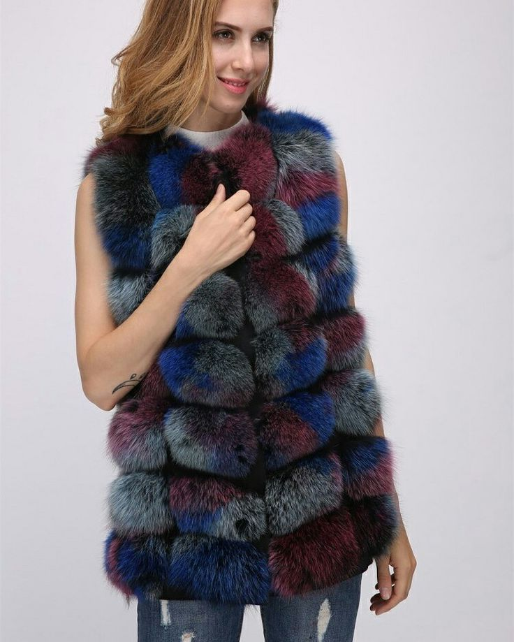multicolor fox fur vest ,USD150.Better price and more information ,please contact us  .eileenhou.lvcomeff