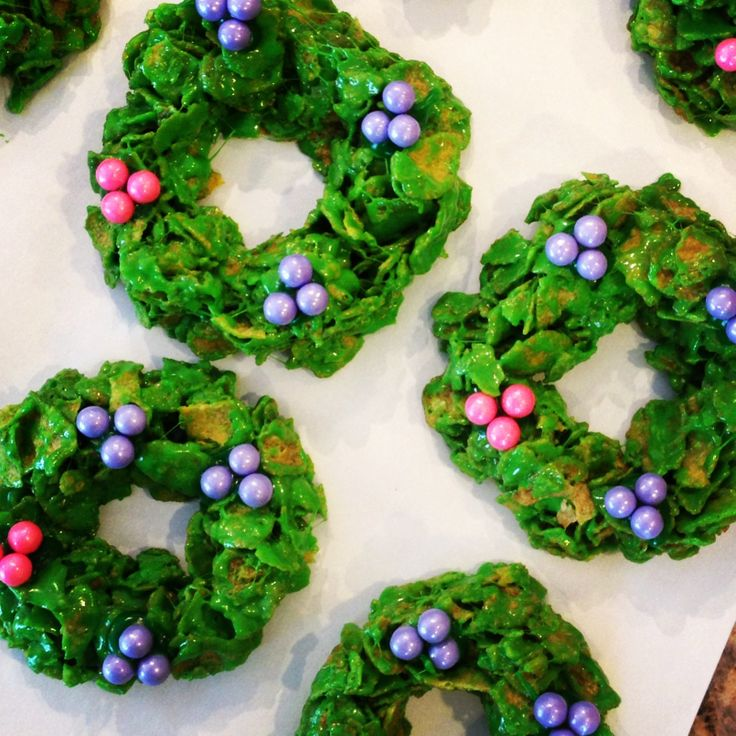 Corn Flake Advent Wreaths | Holiday Fun | Pinterest