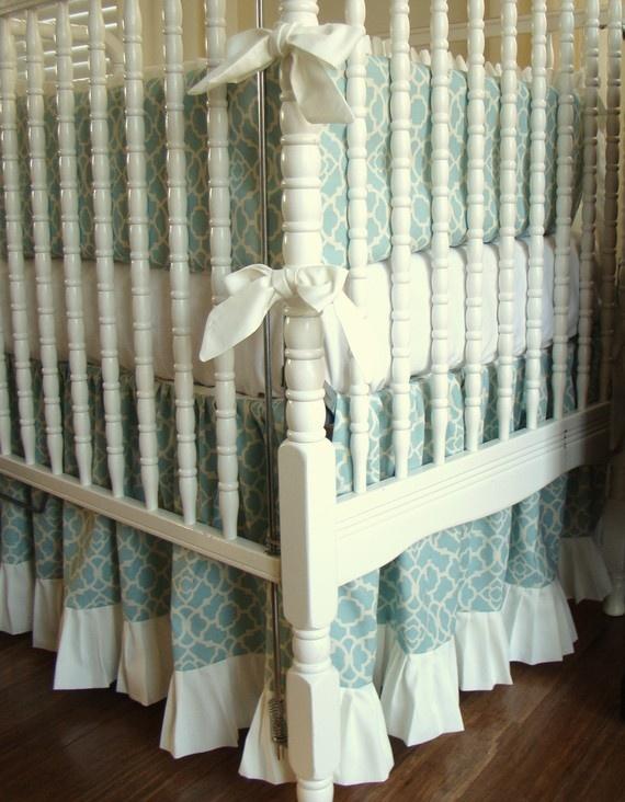 bedding and crib skirt