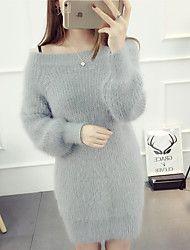 assinar ponto roupas queda de cabelo gola de vison e inverno feminino coreano longa camisola hedging camisa assentamento