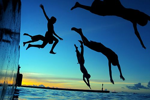 Silhouette Divers, The Maldives photo by muhaa: Picture, Photos, Silhouette, Enjoy Life, Summer Lovin, Photography