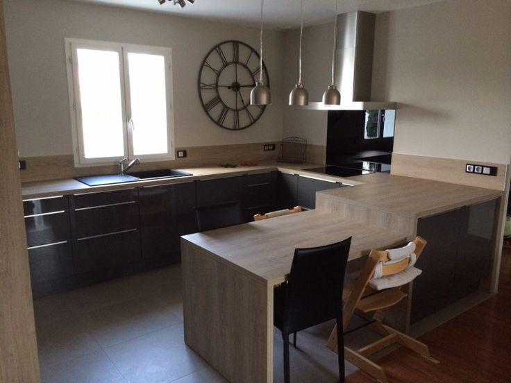 Hauteur Meuble Haut Cuisine Plan De Travail D Co Cuisine Avec Un - Hauteur meuble haut cuisine ikea pour idees de deco de cuisine
