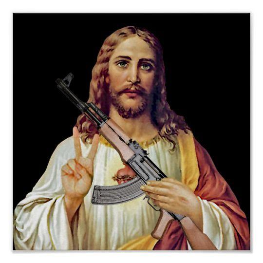 Христос с автоматом картинки