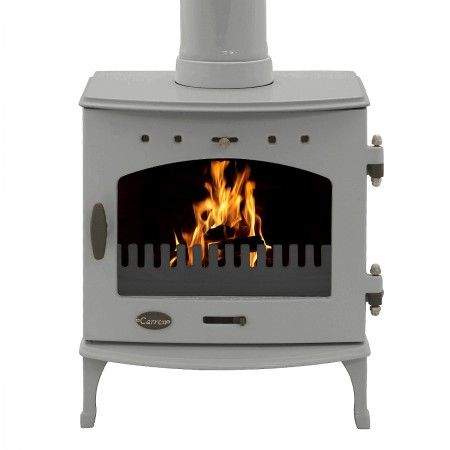 Carron Stove (4.7KW) in Ash Grey Enamel #woodburner #fireplace #stoves
