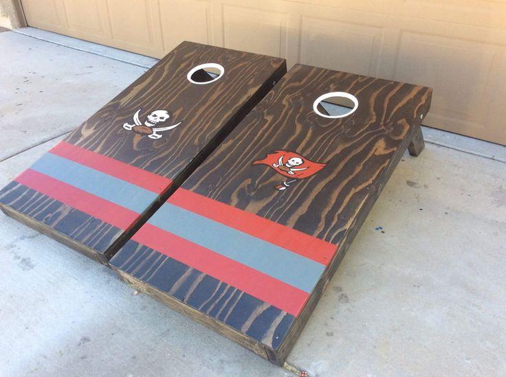 Tampa Bay Bucs cornhole boards
