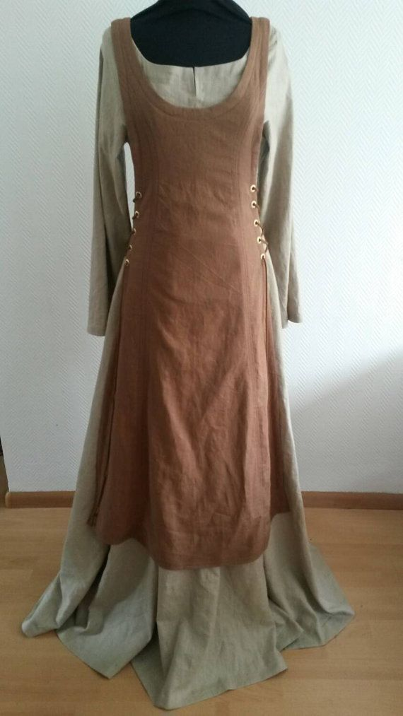MADE TO ORDER: Linen set of 2 dresses, historical, viking, medieval, reenactment, folkore