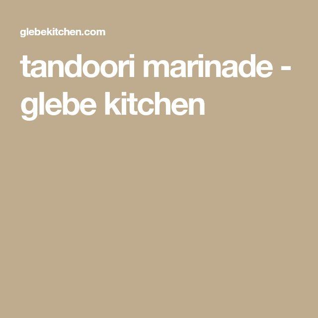 tandoori marinade - glebe kitchen