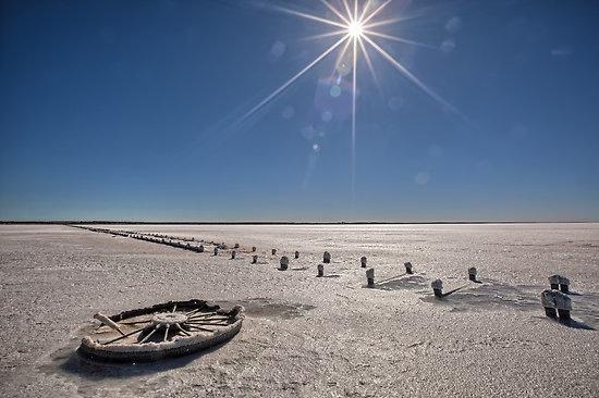 Lake Hart salt flat, South Australia
