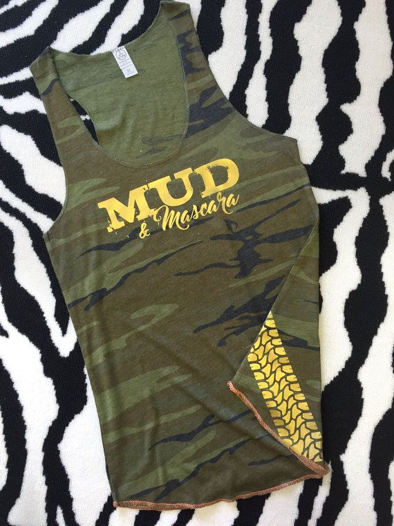 Women's Camo Tank Top: Mud and Mascara by Serendipitybeyondtee