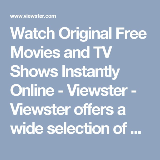 Watch Original Free Movies and TV Shows Instantly Online - Viewster - Viewster offers a wide selection of anime, web shorts, movies and more. With Viewster, you can stream free worldwide through advertising-supported desktop, console and mobile apps, choose from an excellent selection of popular and classic anime, and explore our channels for the best in gaming, comedy and animation.