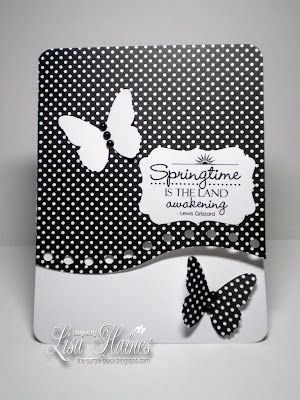Lovely Black & White Springtime Card...with butterflies...ThePurplePlace: Busy, busy, busy.