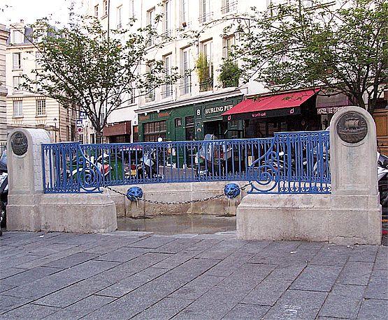 23-04-2007 - 7h03 Fontaine Sainte Geneviève Place de l'Ecole-Polytechnique Paris 75005 Photo numérique : Francis CAHUZAC