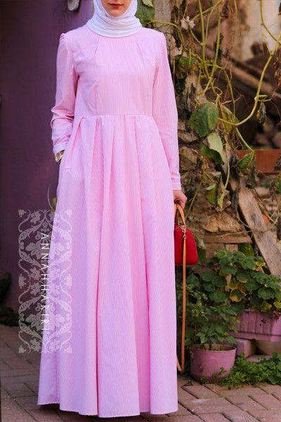 Pink stripe dress