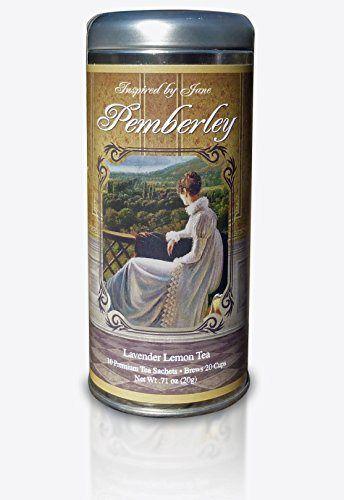 Pemberley - Lavender and Lemongrass Green Tea - Premium Tea Sachets - Jane Austen Inspired Tea Collection - Gourmet Leaf Tea Blend - http://mygourmetgifts.com/pemberley-lavender-and-lemongrass-green-tea-premium-tea-sachets-jane-austen-inspired-tea-collection-gourmet-leaf-tea-blend/