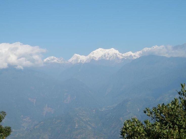 Mount Khanchendzonga from Pemayangtse Monastery in Sikkim, India.  http://www.TaoJourneys.com