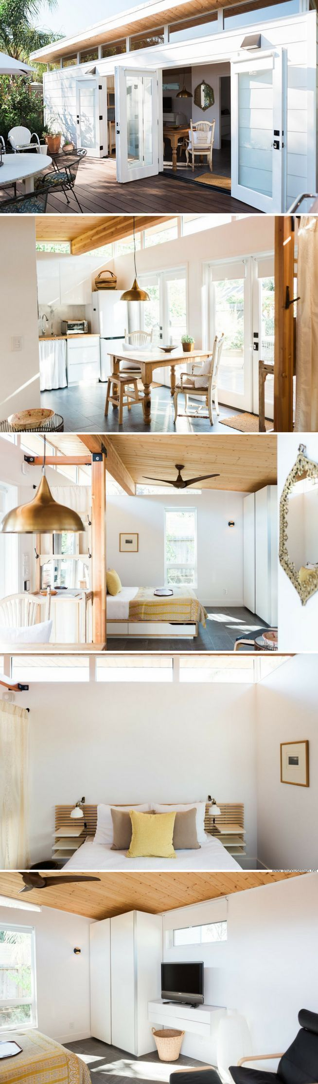 a 364 sq ft california guesthouse with a bright modern interior - Small House Interior Design