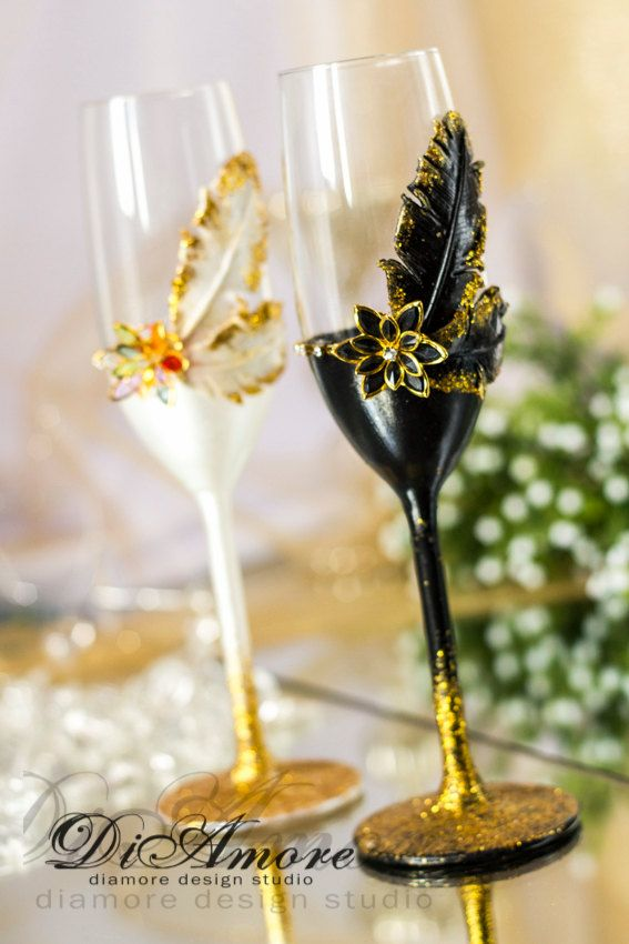 Gatsby Style wedding Champagne Flutes/  Gold  Wedding от DiAmoreDS #wedding glasses, #champagne glasses, #wedding champagne glasses, #bride and groom champagne flutes, purple wedding, #champagne flutes, #toasting flutes, #black and white wedding, #wedding toasting glasses, #wedding flutes, #personalized toasting flutes, #personalized wedding glasses, #wedding, #wedding shot glasses, #shot glasses, personalized wedding flutes, #wedding glasses set, #wedding champagne flute, #glasses
