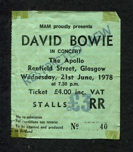 uk gig ticket stubs - Google Search
