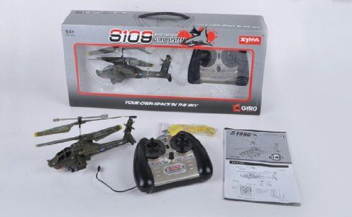 Special Offers - Azimporter Syma S109G Apache Ah-64 3 Channel Mini Indoor Flying Helicopter Toy - In stock & Free Shipping. You can save more money! Check It (May 13 2016 at 11:57AM) >> http://kidsscooterusa.net/azimporter-syma-s109g-apache-ah-64-3-channel-mini-indoor-flying-helicopter-toy/