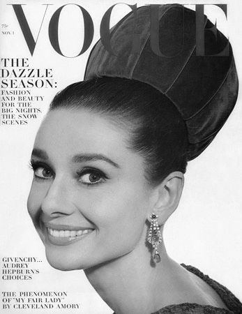 Audrey Hepburn on the cover of VOGUE, 1964