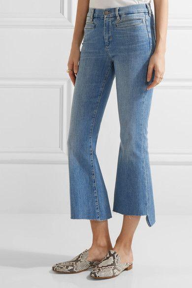 Blue stretch-denim Button and concealed zip fastening at front 92% cotton, 6% elastomultiester, 2% elastane Machine wash Designer wash: Broken
