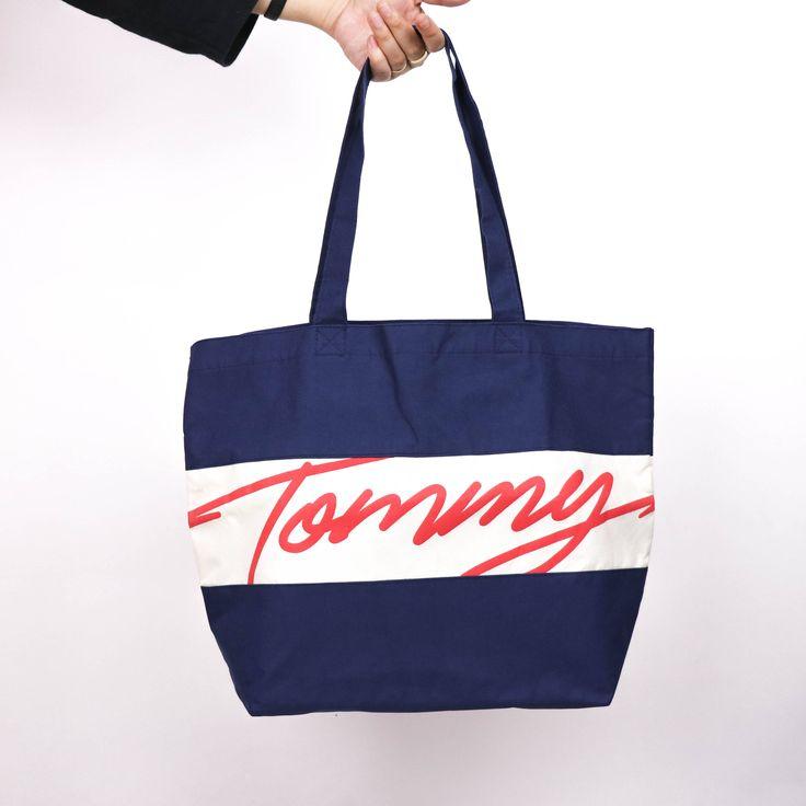 Vtg. Tommy Hilfiger Tote Bag by HITZSHOP on Etsy