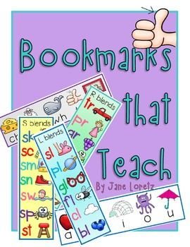 "Free ""Bookmarks that Teach"" ~ Handy!"