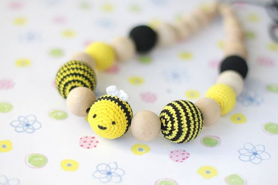 NEW Bee necklace Nursing Teething necklace baby by ForeverValues