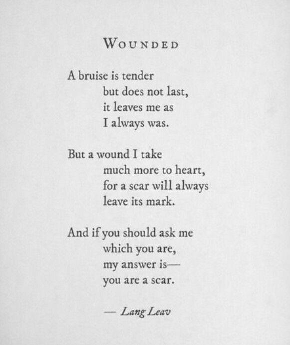 Scars.