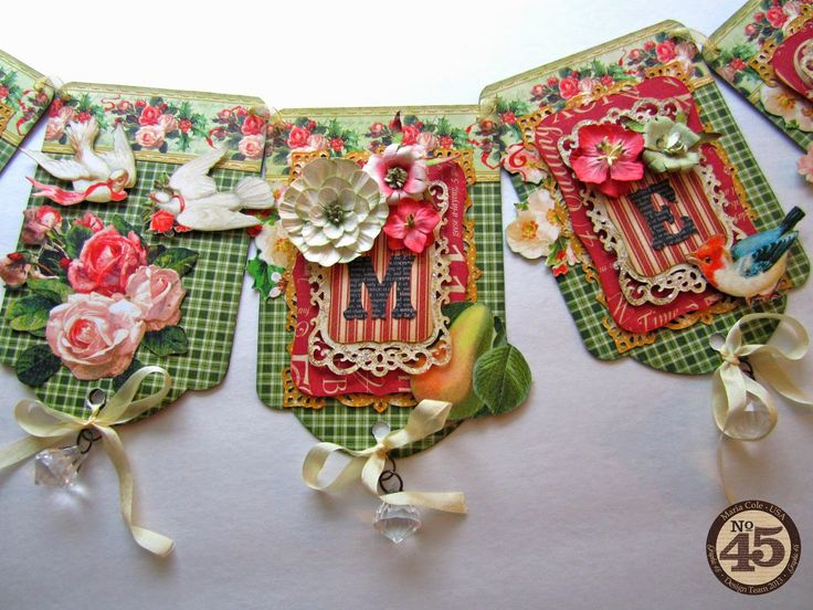 12 Days of Christmas Tag Banner Tutorial by Maria Cole.