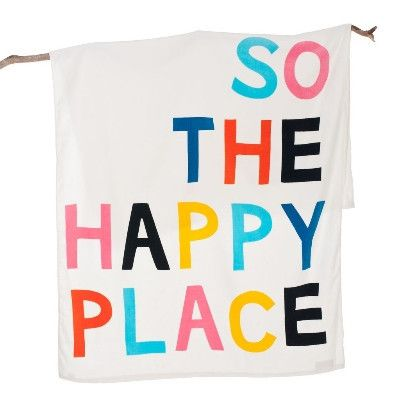 Gorman and Castle Happy Place Towel   Pony Lane
